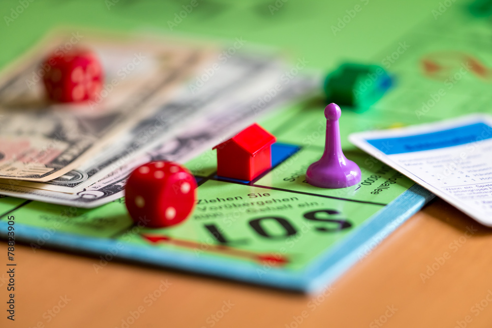 Fototapety, obrazy: Spiel um Geld