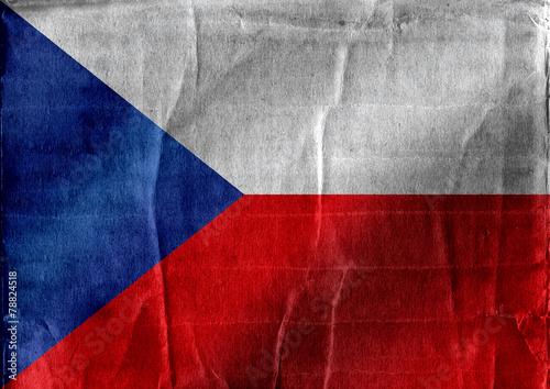 Fototapete - National flag of Czech Republic themes idea design