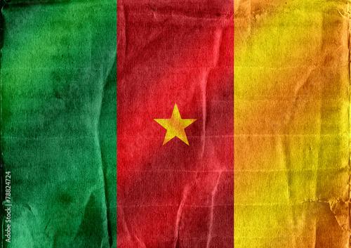 Fototapete - Cameroon flag themes idea design