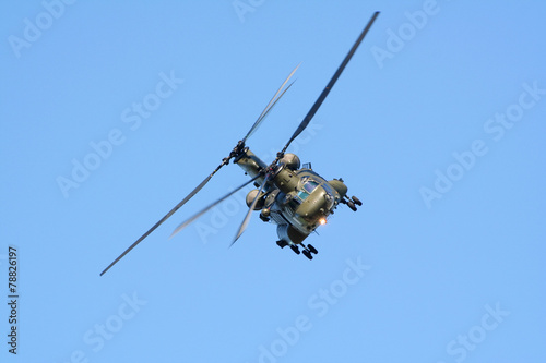 Tuinposter Helicopter Military helicopter