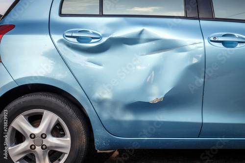 Fotografie, Obraz  Body of car get damage by accident