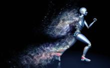Running Robot Shattered Into D...