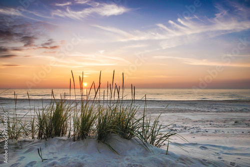Fotobehang Strand Calm pastel evening