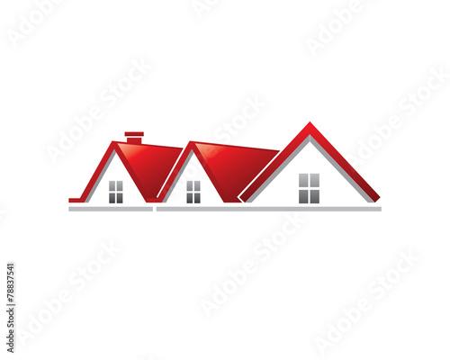 Fototapeta Real Estate Roof Symbol
