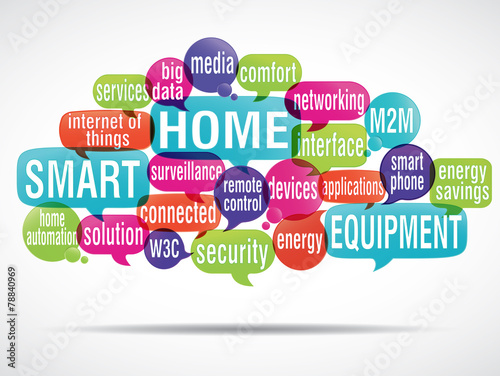 Fototapety, obrazy: tag cloud : smart home