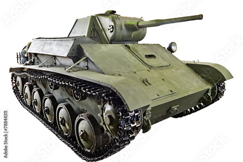 Poster  Soviet light infantry tank T-70 isolated