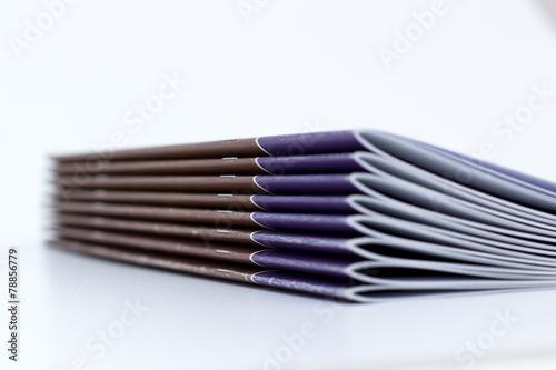 Fotografía  Broschüren aus der Druckerei