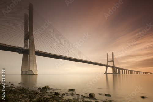 Poster Bruggen Vasco de Gama bridge