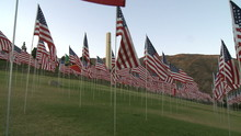 Time Lapse Of American Flags
