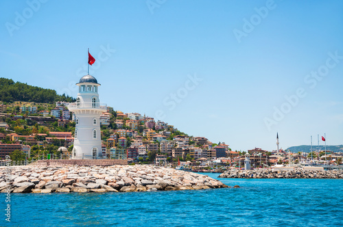 Poster Turquie Lighthouse in the port of Alanya, Turkey