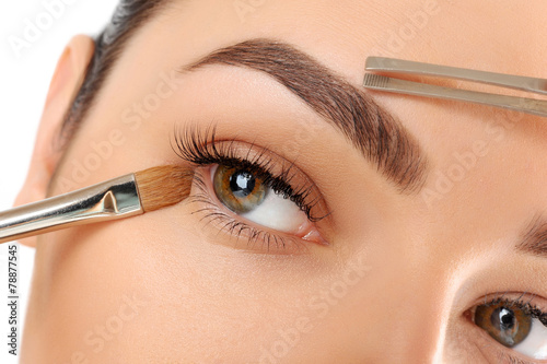 Photo  Make-up. Eyebrow Makeup. Eyes