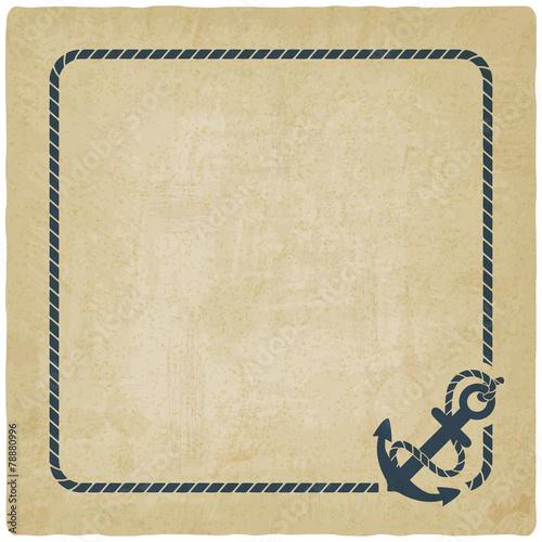 Fototapeta marine background with anchor obraz