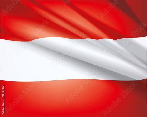 Fotografie, Obraz  Flag of Austria, vector background