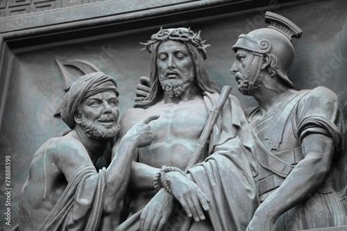 Judas Jesus Roman governor Pontius Pilate Fototapeta