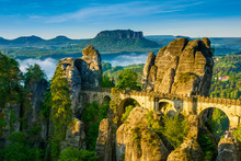 Bridge Named Bastei In Saxon S...