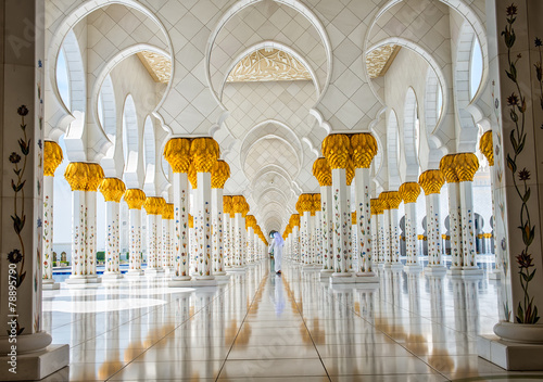 Poster Abou Dabi The famous Sheikh Zayed mosque