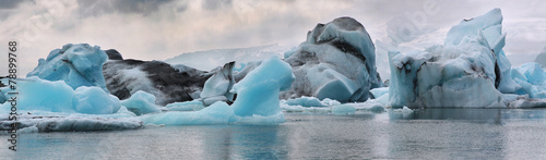 Valokuva Iceberg in the glacier lagoon. Iceland.