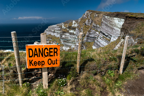 Poster  Danger Keep Out Sign
