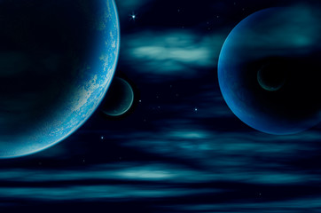 planets in space