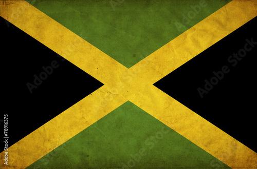 Obraz na plátně Jamaica grunge flag