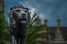 Lion - Sculpture In Front Of The Castle