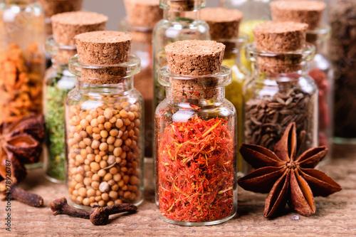 Printed kitchen splashbacks Spices Spices