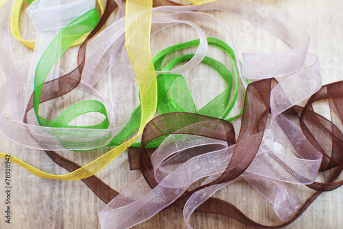 Obraz na plátně mix of organza ribbons