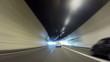 Fast Car trip on Paris peripherical way
