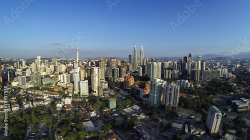 Fototapeta premium kuala lumpur city from aerial view