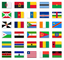 Flags Of Africa Countries.Set 1