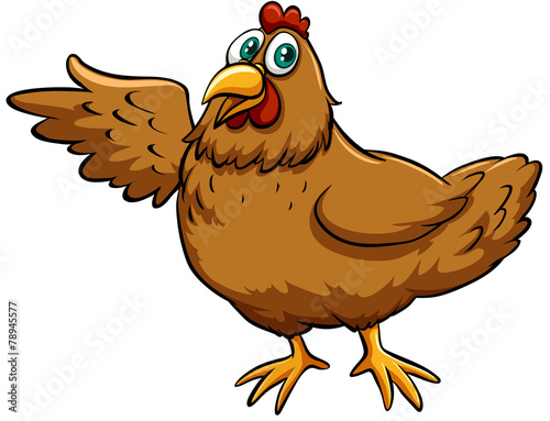 Wall Murals Ranch Brown spring chicken