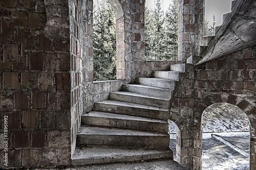 Circular staircase with steps