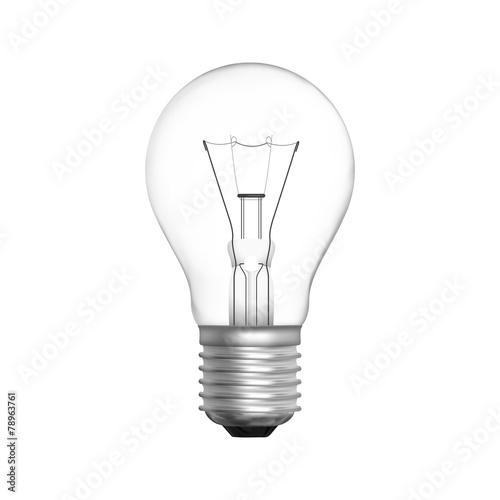 Lamp bulb isolated vector Canvas Print