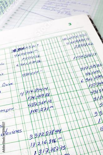 Photo Handwritten accounting