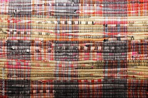 Tuinposter Grill / Barbecue textile background (homespun rug)