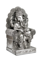 Figurine Of Hindu God Ganesha With Clipping Path.