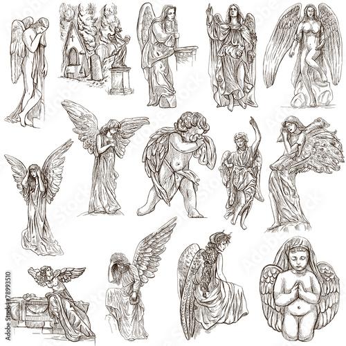 Fotografía  Angels - hand drawn full sized illustrations, originals