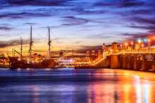 St. Augustine, Florida, USA Skyline On The Intracoastal Waterway