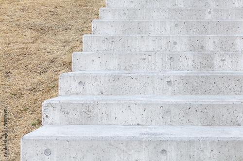 Long outdoor concrete stairs at public park Fototapeta