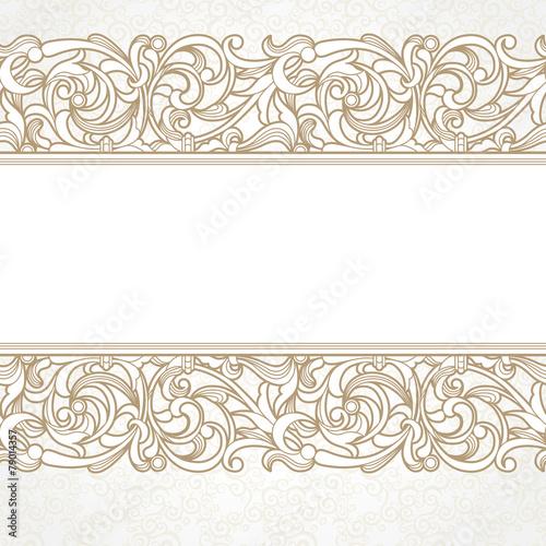 Papiers peints Affiche vintage Vector seamless border in Victorian style.