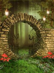 Fototapeta Fantasy Wejście do zaczarowanego lasu