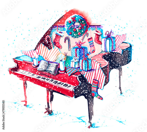Photo Stands Paintings piano