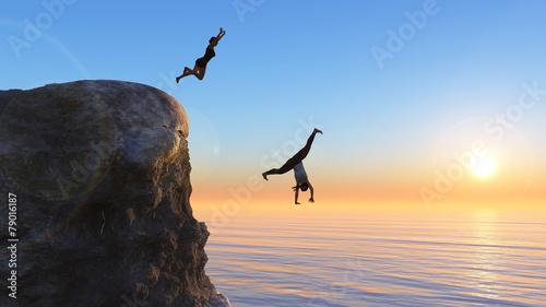 Photo  woman jumping