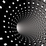 Fototapeta Perspektywa 3d - Abstract background. Illustration of 3d tunnel with squares