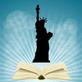 Fototapeta Nowy Jork - usa i książka