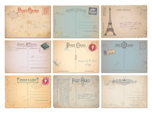 Set Of Nine Blank Vintage Vect...