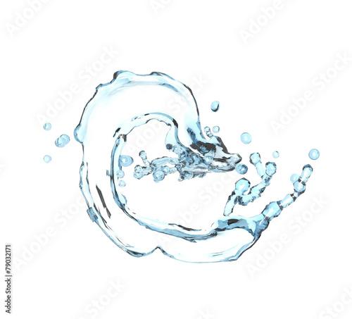 blue water splash isolated Wallpaper Mural