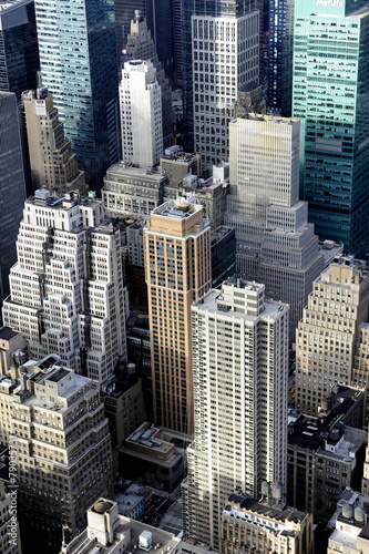 Fotografie, Obraz  New-York vue aerienne de Manhattan