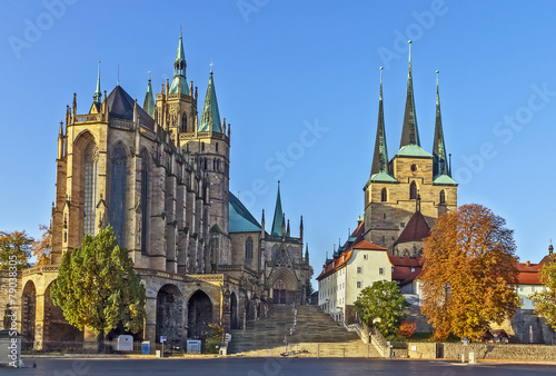 Photo  Erfurt Cathedral and Severikirche,Germany