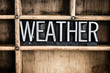 Weather Concept Metal Letterpress Word in Drawer